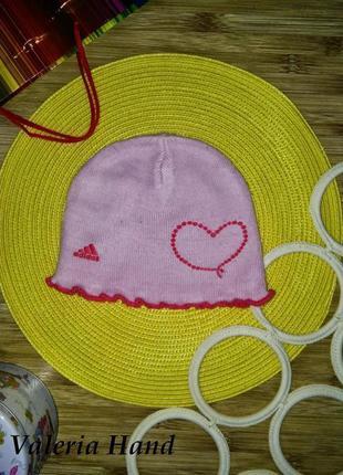 Демисезонная двойная шапка adidas для девочки - возраст 5-7 лет