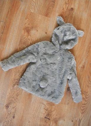 Декоративная шубка-кардиган на 3-4 годика