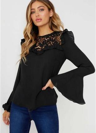Красивая чёрная блуза lipsy  london