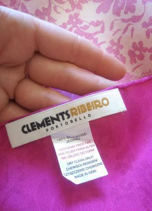 Натуральный шелк,платок clements riberto,101*99,роуль,есть нюанс.3