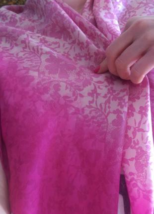 Натуральный шелк,платок clements riberto,101*99,роуль,есть нюанс.8