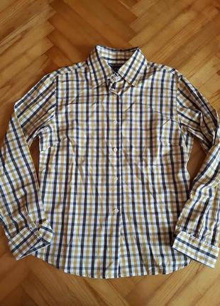 Приталенная хлопковая рубашка блуза от marc o polo! p.-40
