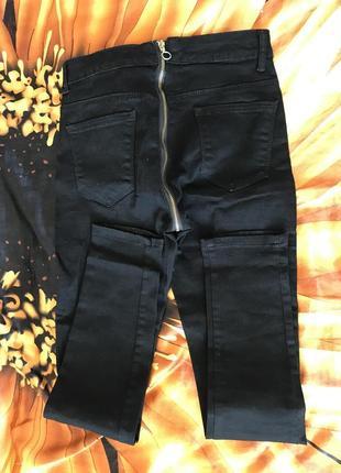 Чёрные штаны с молнией сзади!