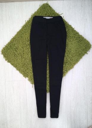Новые черные скинни xs uk 6 джинсы на резинке