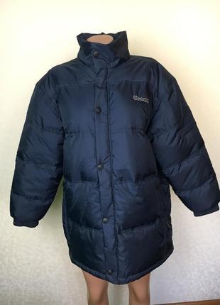 Зимняя тёплая удлинённая куртка пуховик на мальчика