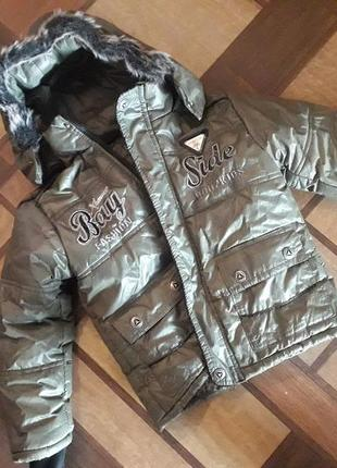 Продам детскую зимнюю куртку пуховик