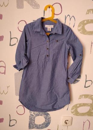 Платье-рубашка h&m новое котон девочка 7-8 лет