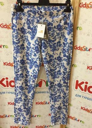 Новые леггинсы в синие цветы для девочки, mayoral, 547532