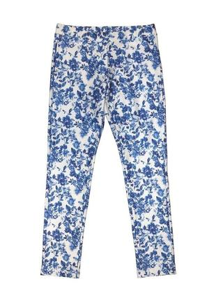 Новые леггинсы в синие цветы для девочки, mayoral, 54753