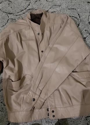 Винтажная  натуральная кожаная куртка