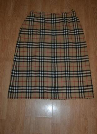 Шерстяная юбка от burberry (burberrys-винтаж)