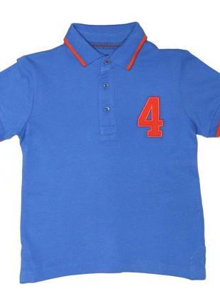 Новая синяя футболка поло для мальчика, mayoral, 1131