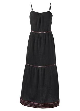 S(38 евр.) длинное летнее платье от esmara коллекция heidi klum