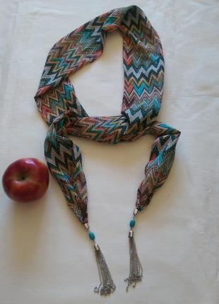 Двухслойный шарфик-украшение ,10*168