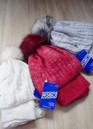 Головний набір з шарфом на 50-52 об'єм голови