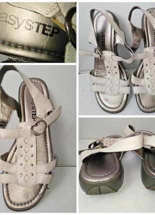 Кожаные сандали босоножки easy step