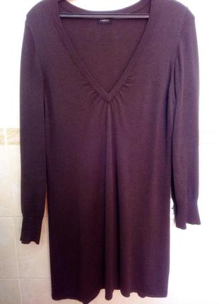 Теплое платье туника сукня 52-54, пог 62 см