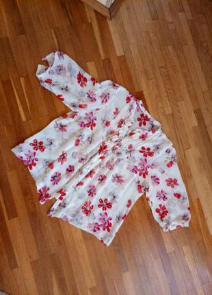 Розкішна шовкова блузочка з пишним рукавом moonsoon 42-44р.