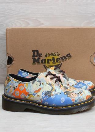 Кожаные женские туфли dr.martens 1461 оригинал, размер 36 (принт китайский мотив)