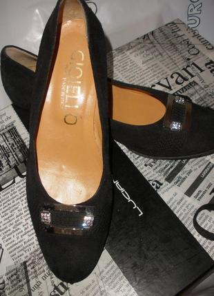 Шикарные замшевые туфли-лодочки 'gioiello'  от джузеппе занотти.