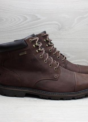 Кожаные мужские ботинки rockport waterproof, размер 44
