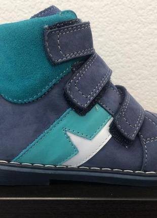 Качественные ортопедические демисезонные ботиночки mido noster польша 20-32р на мальчишек