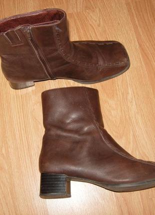 Ботинки, полусапожки, george демисезонные, нат кожа, 39 разм