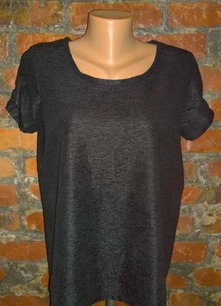 Блуза топ кофточка прямого кроя из фактурного крепа