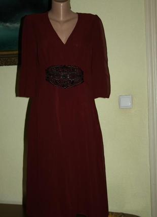 Изысканное элегантное классическое вечернее платье из натурального шелка ghost