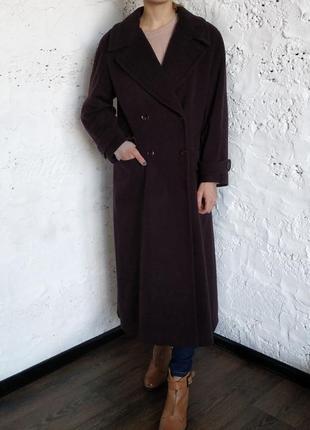 Акция пальто шерстяное макси