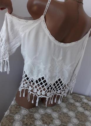 Шикарная блуза с оголёными плечами6 фото