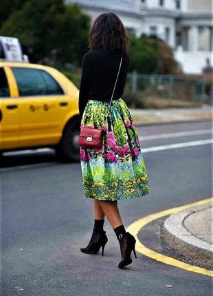 Нереально красивая 🔥🔥🔥 юбка колокол 3d цветочный принт asos