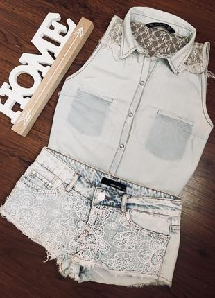 Джинсовая рубашка zara trafuc,блуза