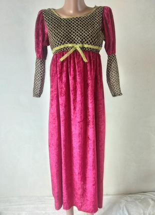 Карнавальное платье леди вамп вапмирша леди герцогиня и т.д. 7-9 лет 130-140 см с клыками