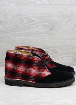 Замшевые ботинки дезерты clarks оригинал, размер 38 (woolrich desert boots)