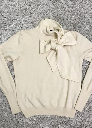 Vip! брендовый нежнейший свитер из натуральной шерсти мериноса
