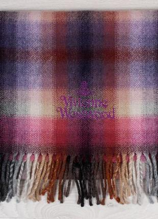 Красивый теплый шарф vivienne westwood оригинал (шерсть)