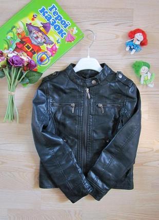 Куртка деми экокожа на девочку /la halle/ размер 128-8лет