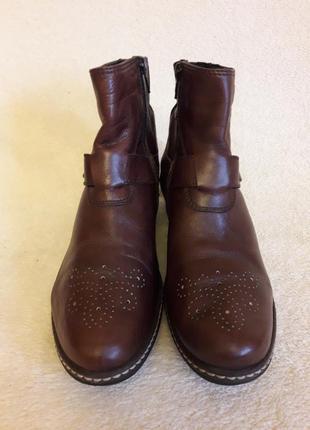 Стильные кожаные ботинки фирмы wolky p. 39 стелька 25,5 см
