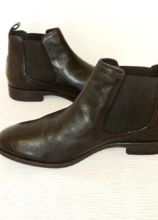 """Кожаные ботинки-челси от """"pier one"""", 41 р (27,7 см)2 фото"""
