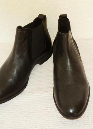 """Кожаные ботинки-челси от """"pier one"""", 41 р (27,7 см)5 фото"""