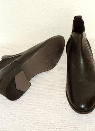 """Кожаные ботинки-челси от """"pier one"""", 41 р (27,7 см)3 фото"""