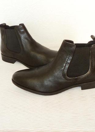 """Кожаные ботинки-челси от """"pier one"""", 41 р (27,7 см)1 фото"""