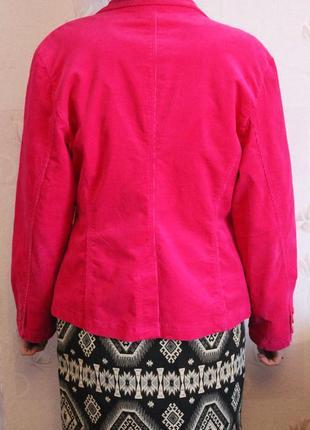 Яркий вельветовый пиджак жакет2 фото