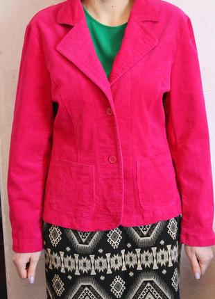 Яркий вельветовый пиджак жакет