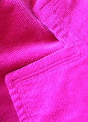 Яркий вельветовый пиджак жакет4 фото