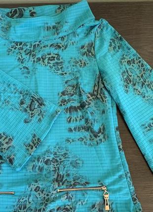 Платье бирюзовое с леопардовым принятом, трансформер р.m