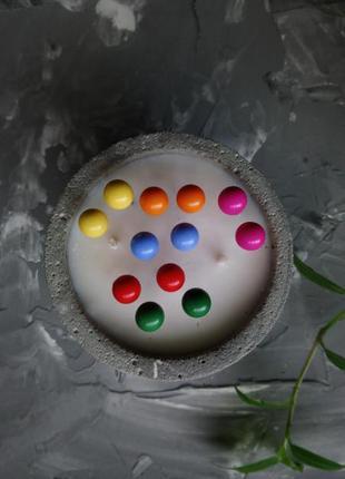 Серьги пусеты круглые цветные шарики