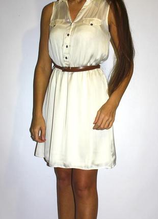 Нежное платье , по талии резиночка + пояс --- срочная распродажа платьев --
