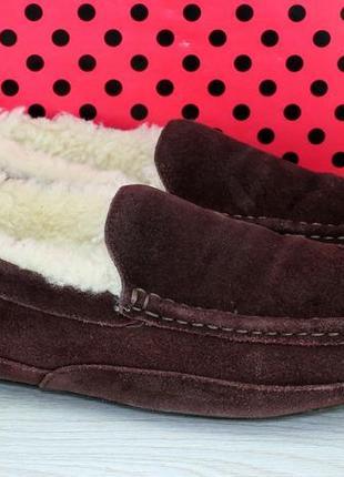 Туфли тапочки замшевые на цигейкею